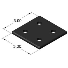 "15AC7932 3"" x 3"" End Cap dimensions"