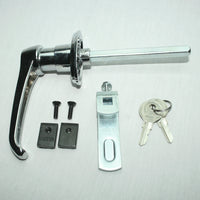 Chrome 360° Rotation Locking Door Handle hardware included