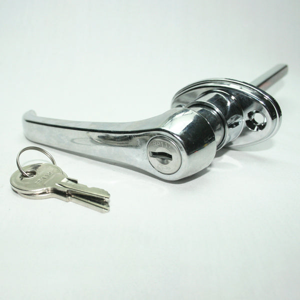 Chrome 360° Rotation Locking Door Handle