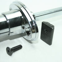 Chrome 360° Rotation Locking Door Handle mounting assembly