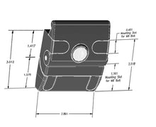 Front Mounting Slam Latch dimensions
