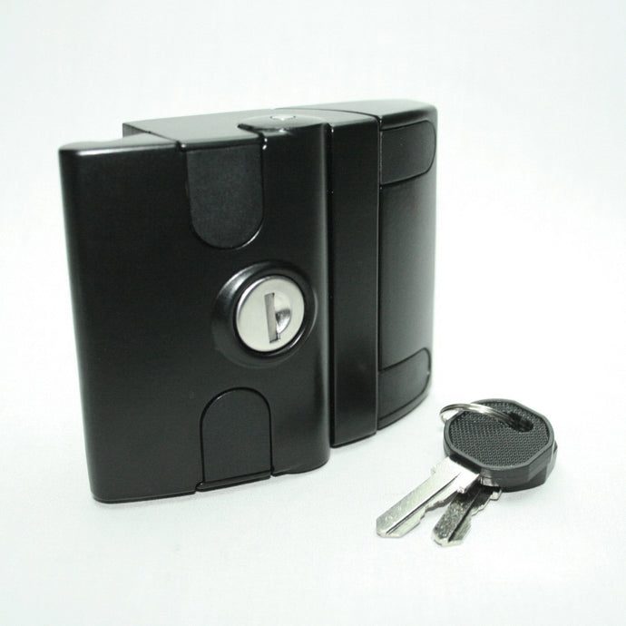 Black Front Mount Slam Latch with key