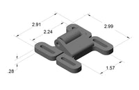 15AC8745 Double Detent Ball Latch dimensions