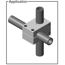 "1"" Stanchion Double Tube Cross Clamp"