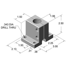 "15AC8801 1"" Single Shaft Base dimensions"