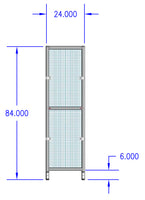 "Assembled Aluminum Guarding Panel - 24"" x 84"""