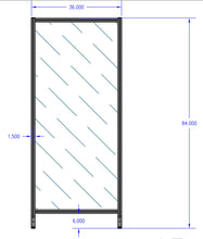 "Aluminum Polycarbonate Guard - 36"" x 84"""
