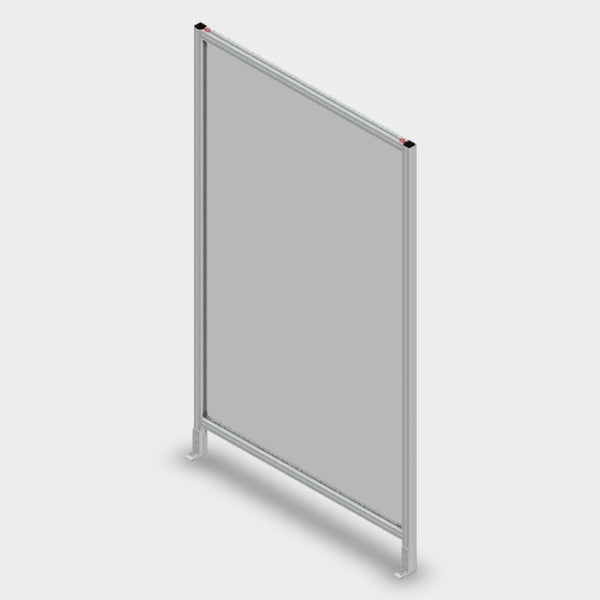"Aluminum Polycarbonate Guard - 48"" x 84"""