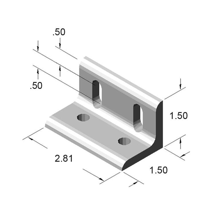 4 Hole Slotted Inside Corner Bracket