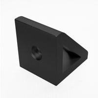 Black 2 Hole Inside Gusset Corner Bracket