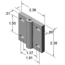 15HI8518 Heavy Duty Steel Door Hinge dimensions