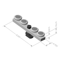 Bi-Fold Door Glide Block dimensions