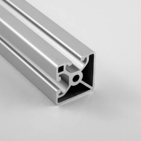 "1.5"" x 1.5"" Lite Smooth Bi-Slot Aluminum Extrusion"