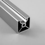 "1.5"" x 1.5"" Lite Smooth Mono-Slot Aluminum Extrusion"