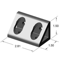 4 Hole Inside Gusset Corner Bracket