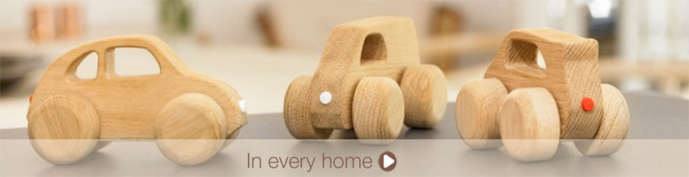 wooden designer toy car