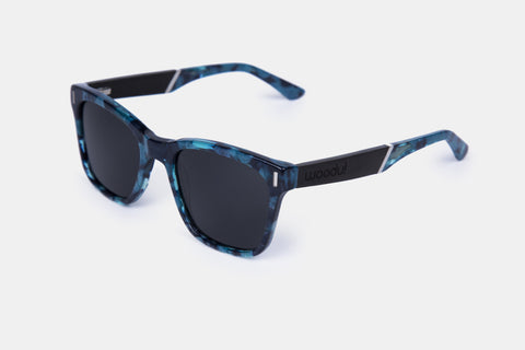 WOODU! Gregory Black Blue Tortoise