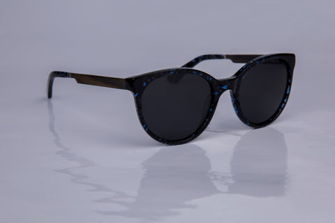 WOODU! Saskia Black Blue Tortoise