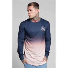 Peach Horizon Long Sleeve Curved Hem