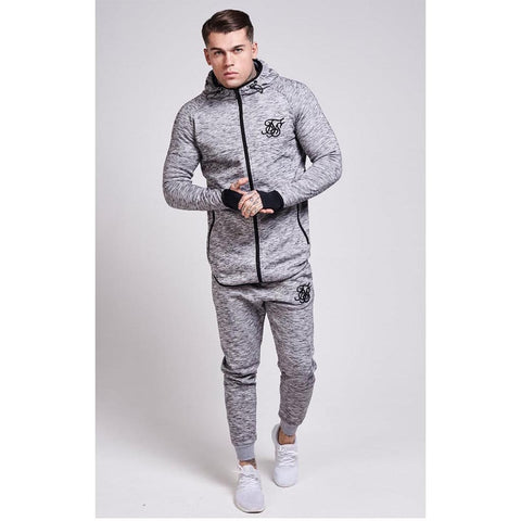 Apex Zip Through Track Top Light Grey