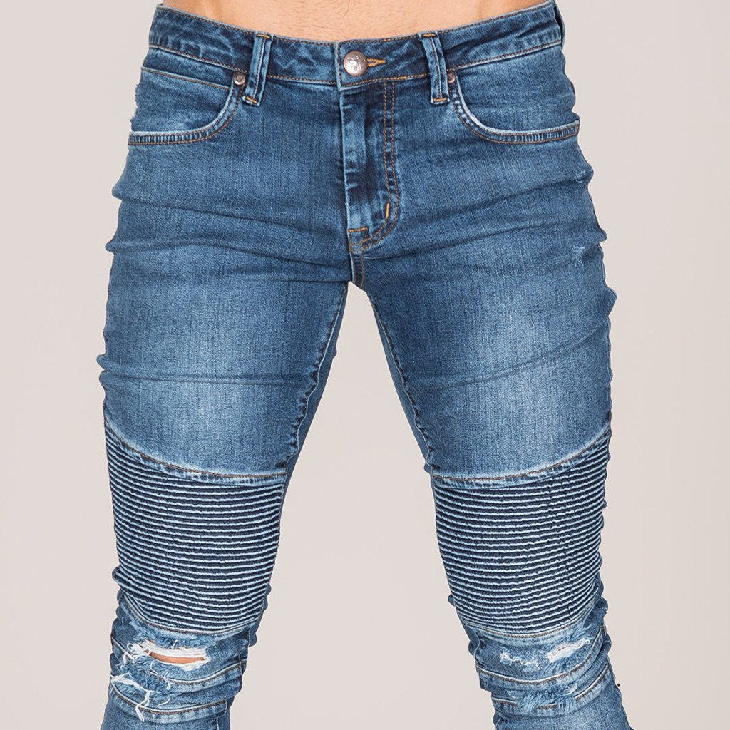 Etna Biker Jean - Dark Wash