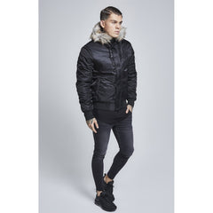 Everest Hooded Bomber Black