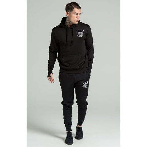 Poly Tricot Overhead Hoodie  Black