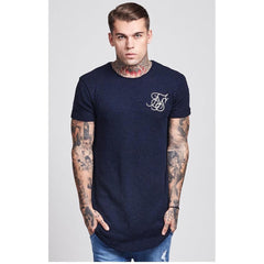 Weathered Curved Hem Tee Navy