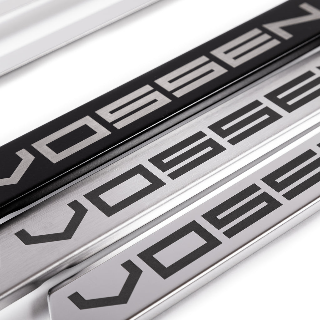 Classic Stainless Vossen License Plate Frame (Black, Brushed and Chrome)