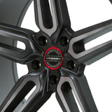 Hybrid Forged Billet Sport Cap Set for VF & HF Series Wheels (Vossen Red)