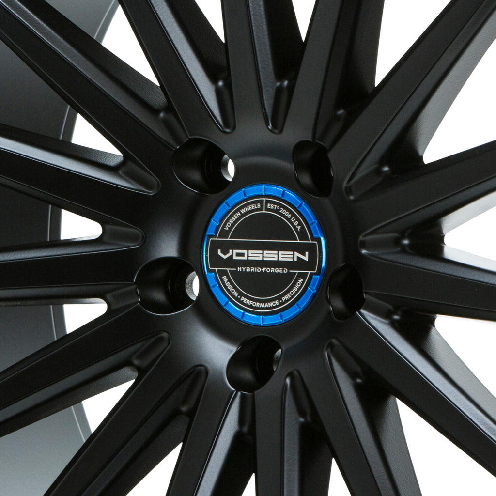 Hybrid Forged Billet Sport Cap Set for VF & HF Series Wheels (Fountain Blue) - Vossen