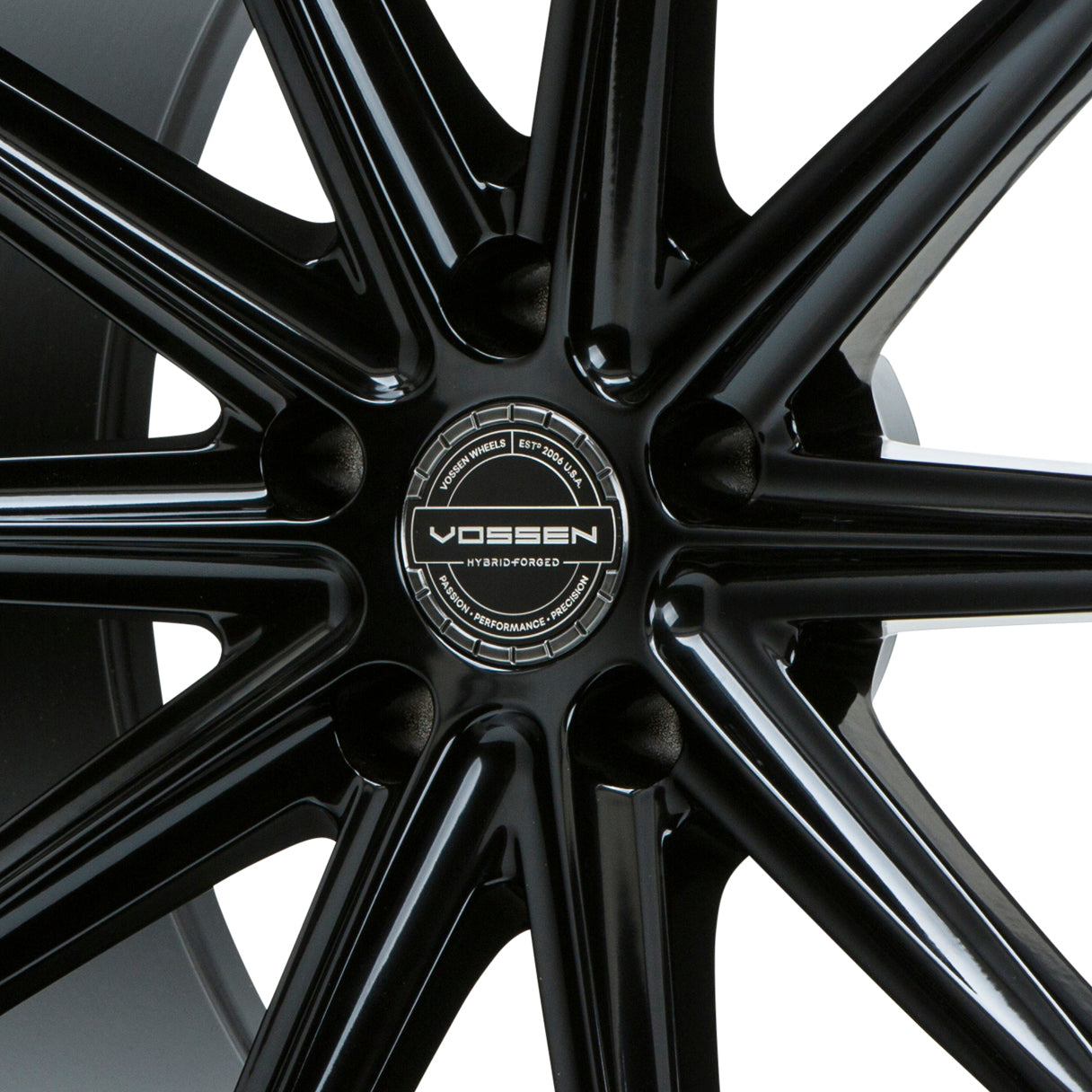 Hybrid Forged Billet Sport Cap Set for VF & HF Series Wheels (Midnight Smoke/Black)