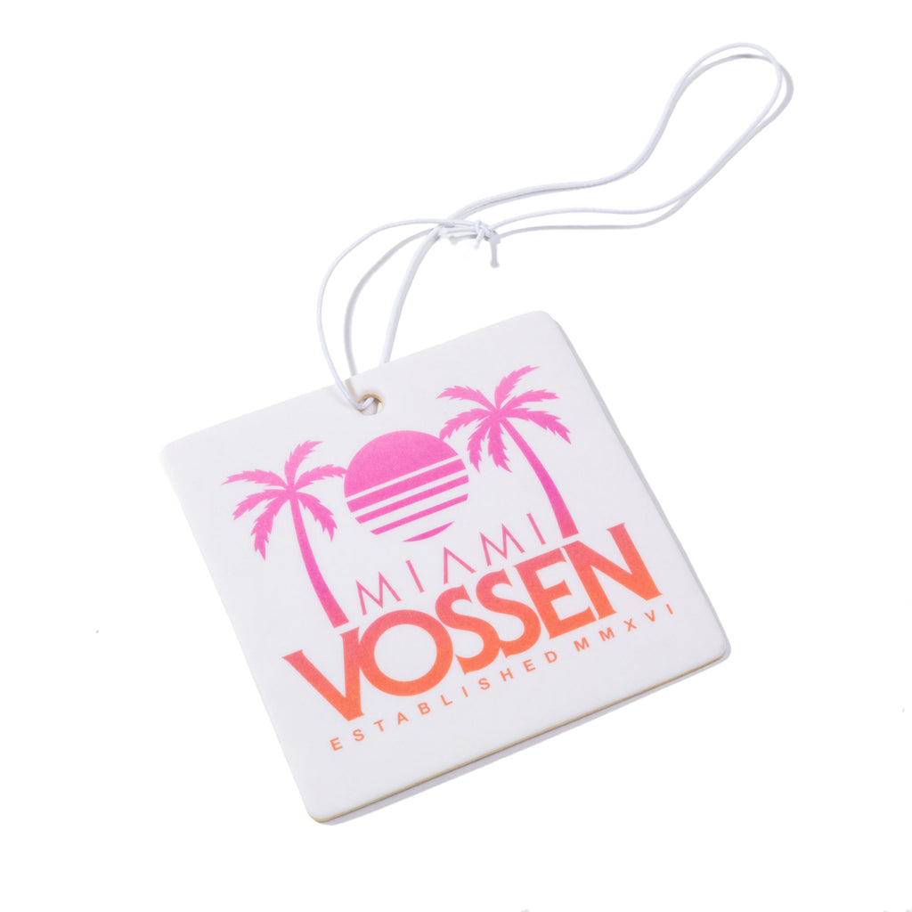 Miami Palms Air Freshener (White/Sunrise Fade)