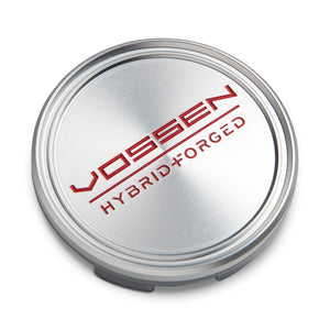 Hybrid Forged Optional Center Cap (Satin Clear/Red) - Vossen