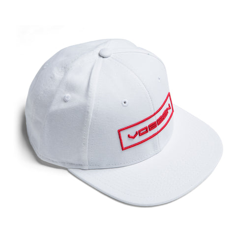 Classic Vossen Outline Hat (White/Red)