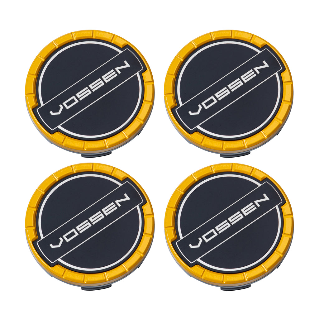 Classic Billet Sport Cap Set for CV/VF/HF Series Wheels (Canary Yellow) - Vossen