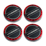 Classic Billet Sport Cap Set for CV/VF/HF Series Wheels (Vossen Red)