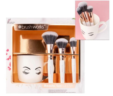 Brush Works Ready Set Glow Makeup Brush Set