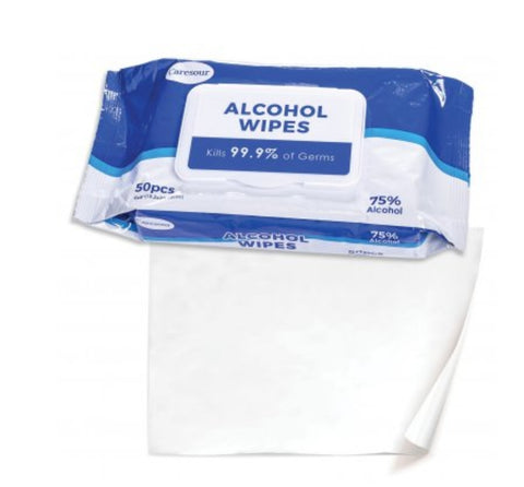 75% by alcohol Antiseptic wipes - 50pcs