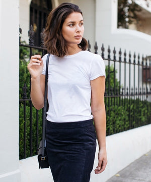 Styling a white tee credit Harper and Haley