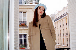 Les Sublimes Ecojean Beret in Powder Blue