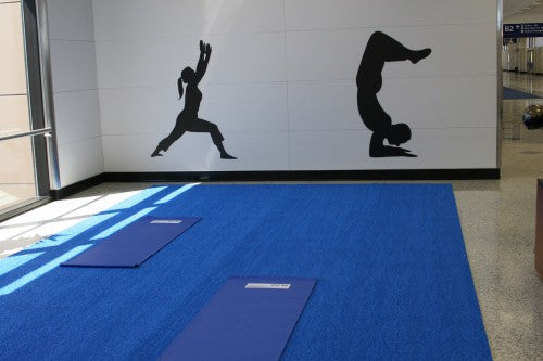 Dallas Airport yoga room