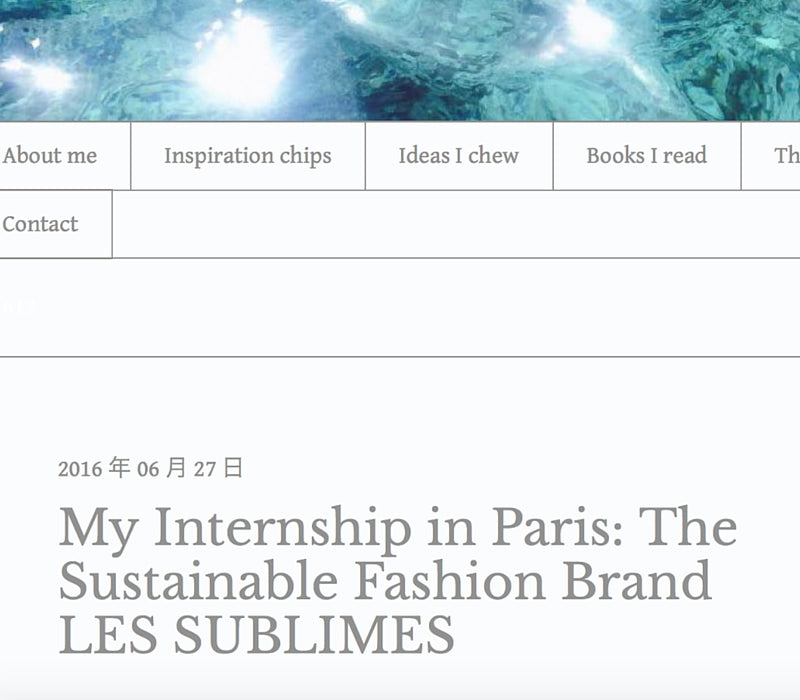 Eva in the Moments – My Internship in Paris: The Sustainable Fashion Brand Les Sublimes, June 2016