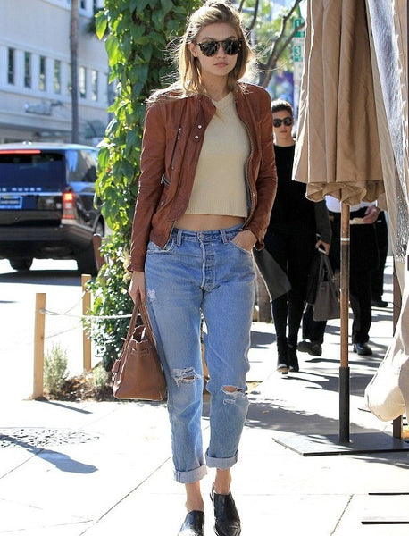 Gigi Hadid wearing RE/Done
