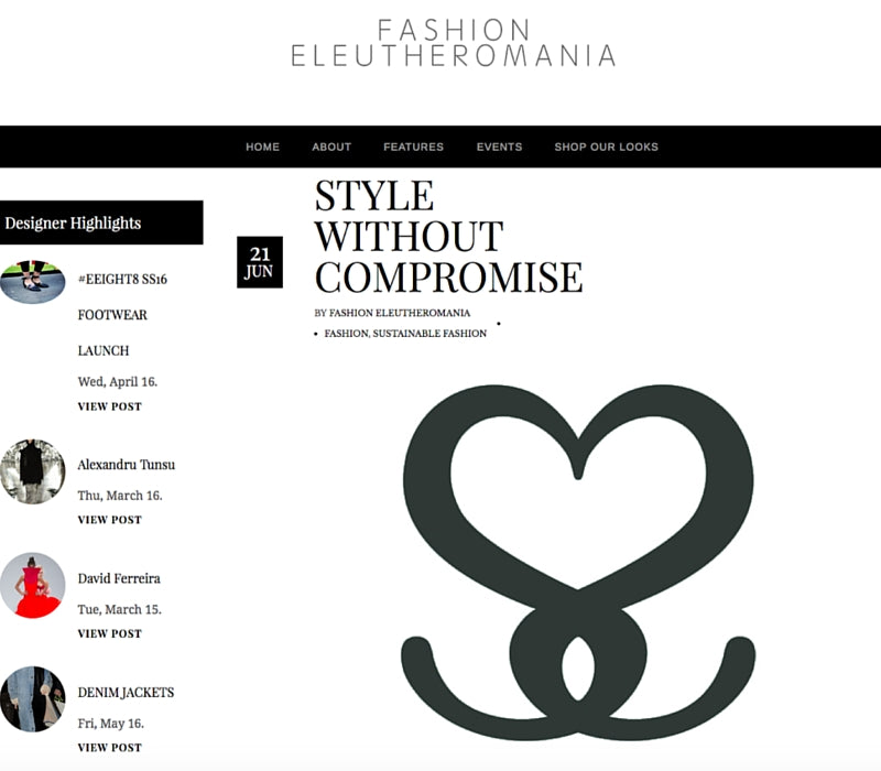 Fashion Eleutheromania – Style Without Compromise, June 2016