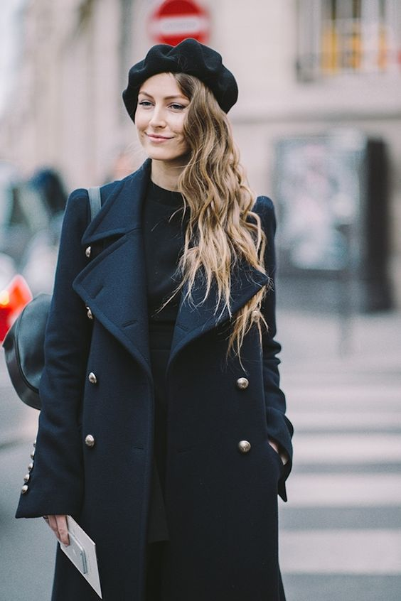 Style your beret with a winter coat