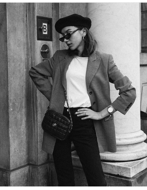Style your beret with a blazer