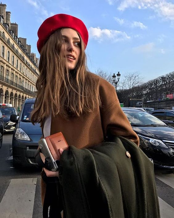 Style your beret with a wool coat
