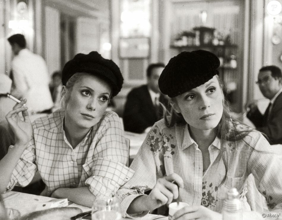 Catherine Deneuve wearing a beret