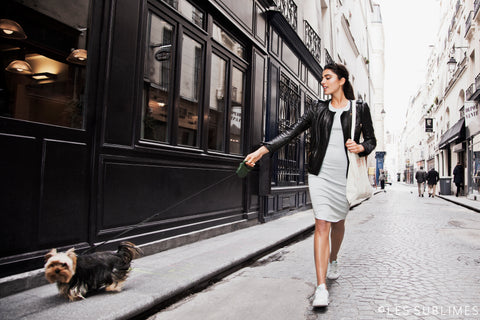Les Sublimes Spring 2016 Collection London Dress Streets of Paris Walking her dog